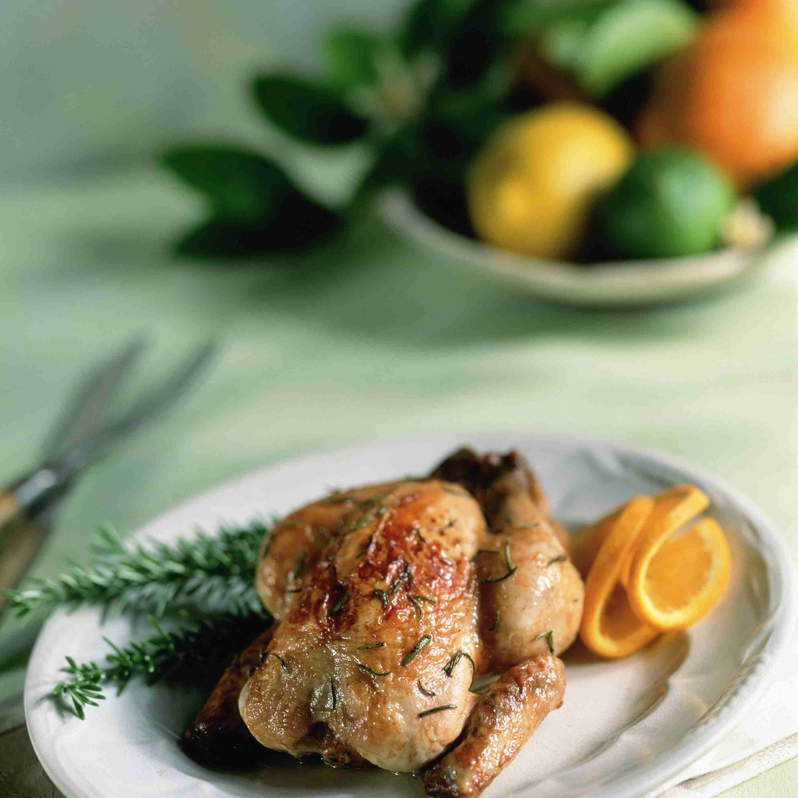 Cornish Game Hen with Rosemary