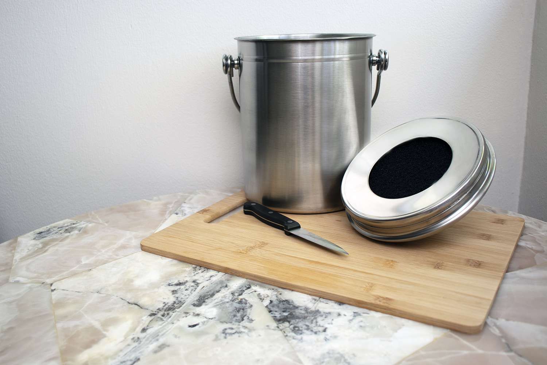 Utopia Kitchen Stainless Steel Compost Bin