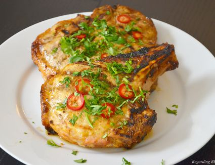 Pork Chops with Curry and Mustard
