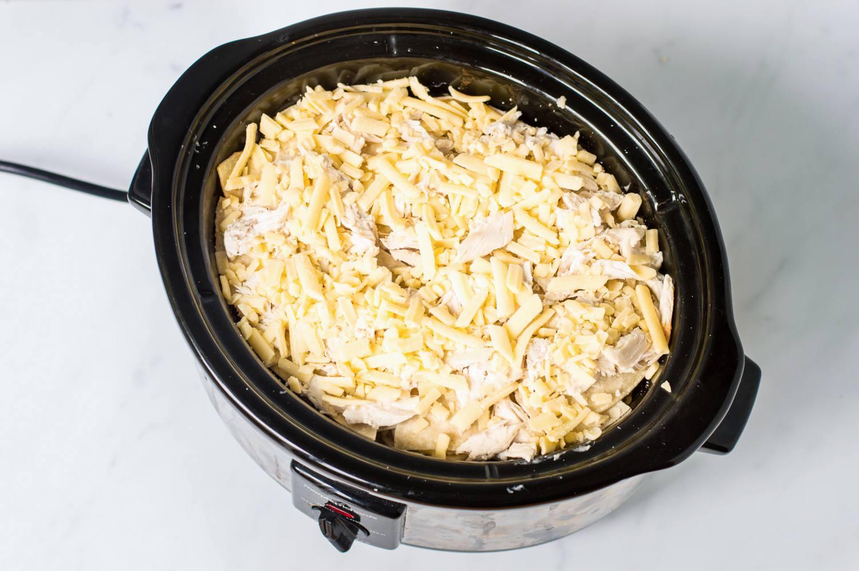 Enchilada ingredients in crock pot