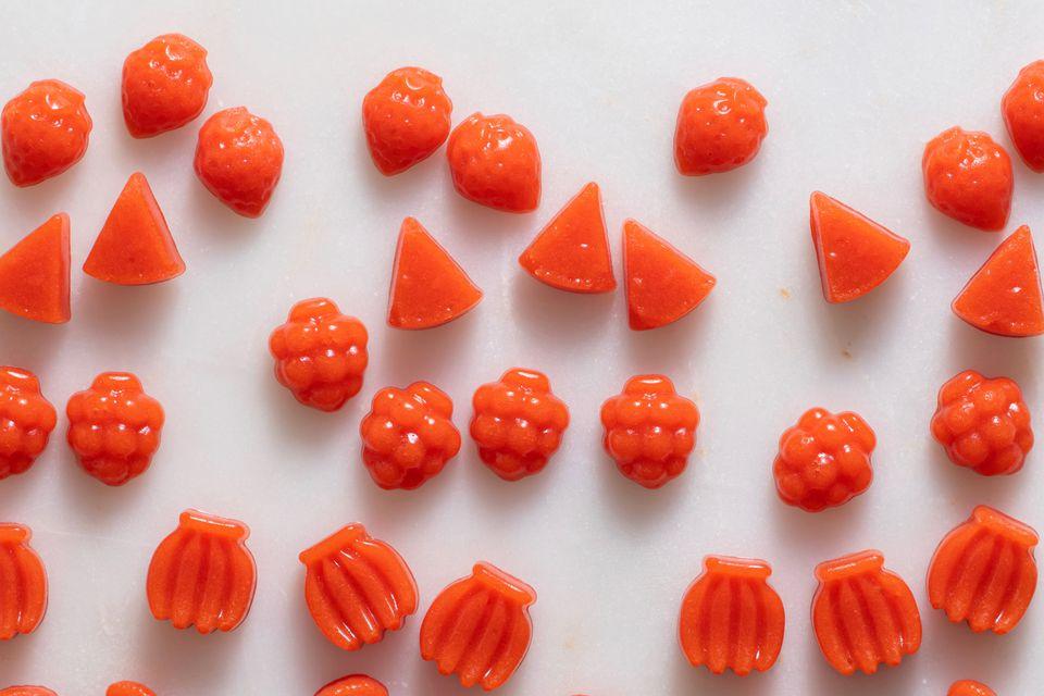 Raspberry and Carrot Fruit Snacks