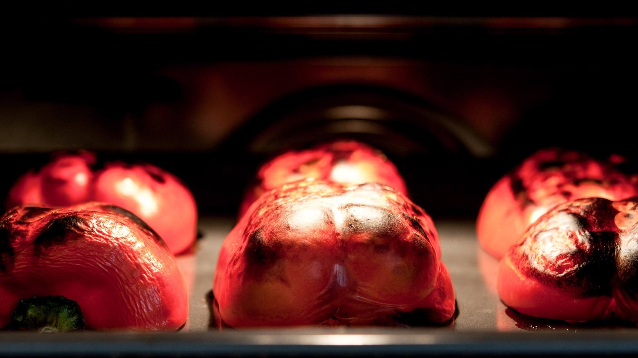 Bell Peppers Roasted In Oven
