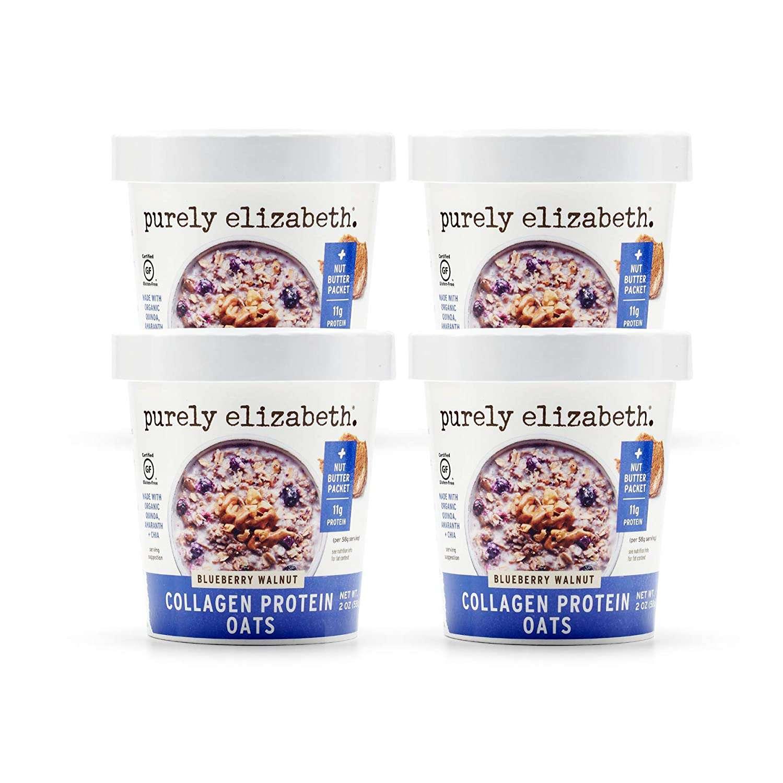Purely Elizabeth Collagen Protein Oats Cup, Blueberry Walnut