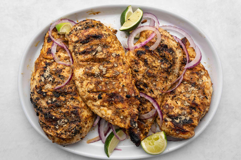 Grilled Tandoori Chicken on a platter
