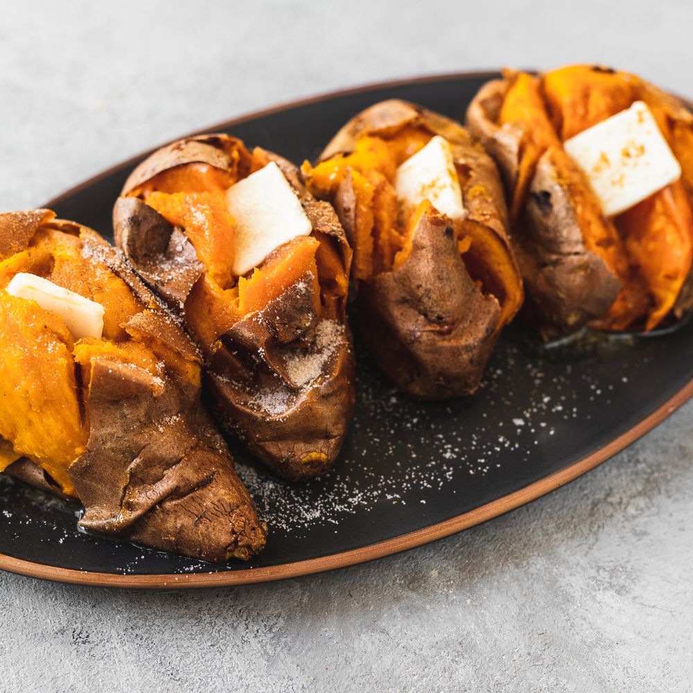 Whole Baked Sweet Potatoes Recipe