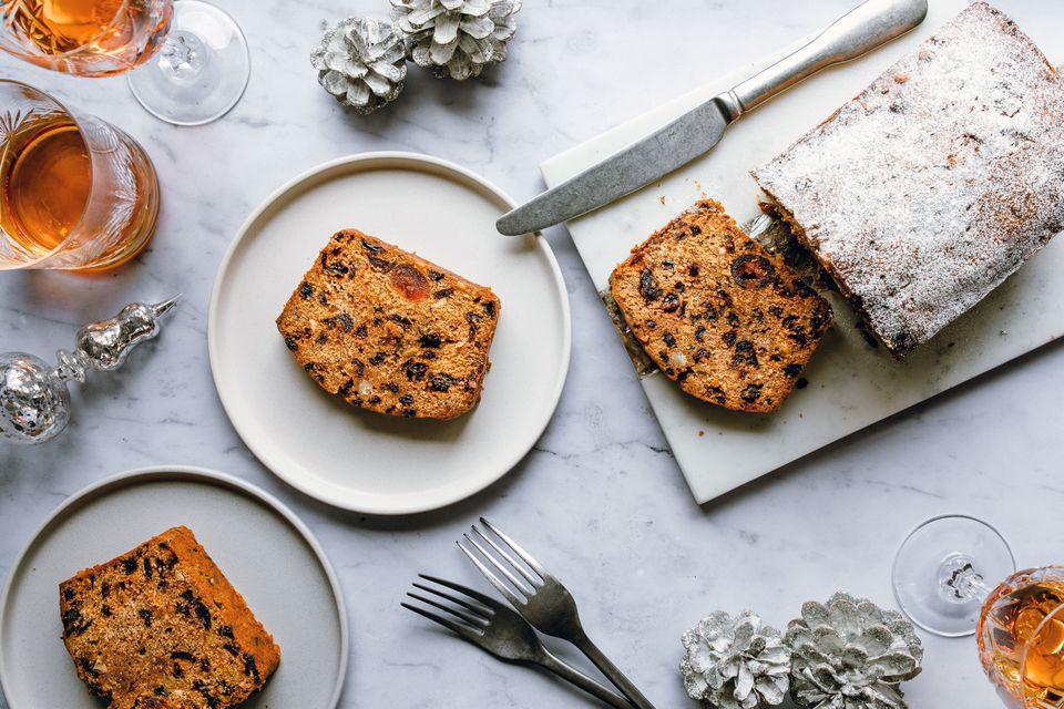 Spiced dark fruitcake recipe