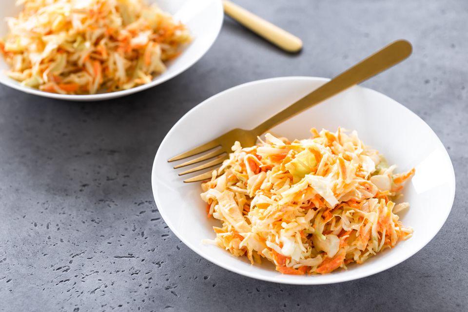 Basic vegan coleslaw