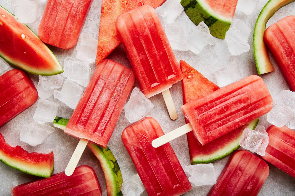 Easy fat free vegan watermelon popsicles recipe