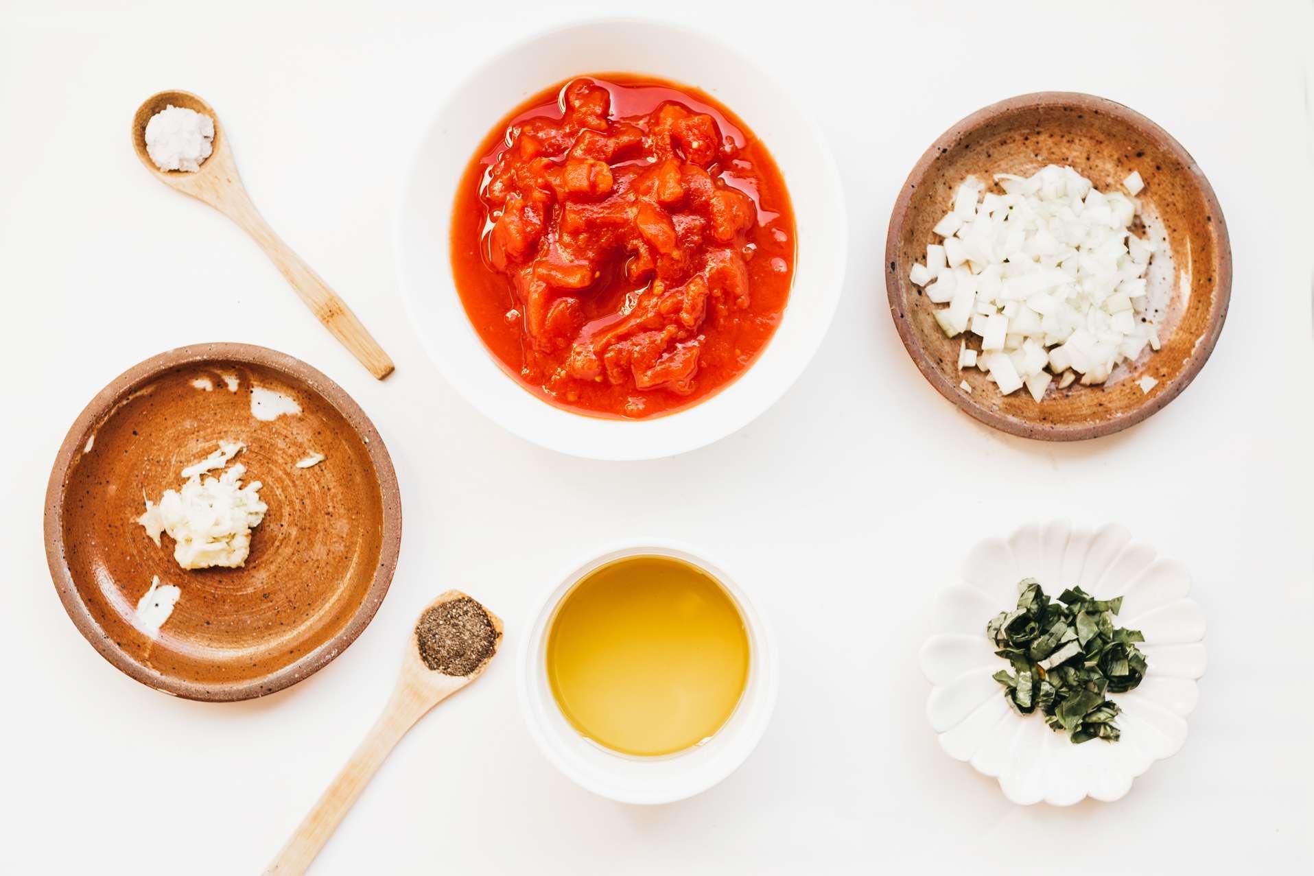 Ingredients for marinara