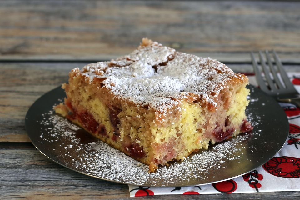 Cherry cake made easy with cake mix and pie filling