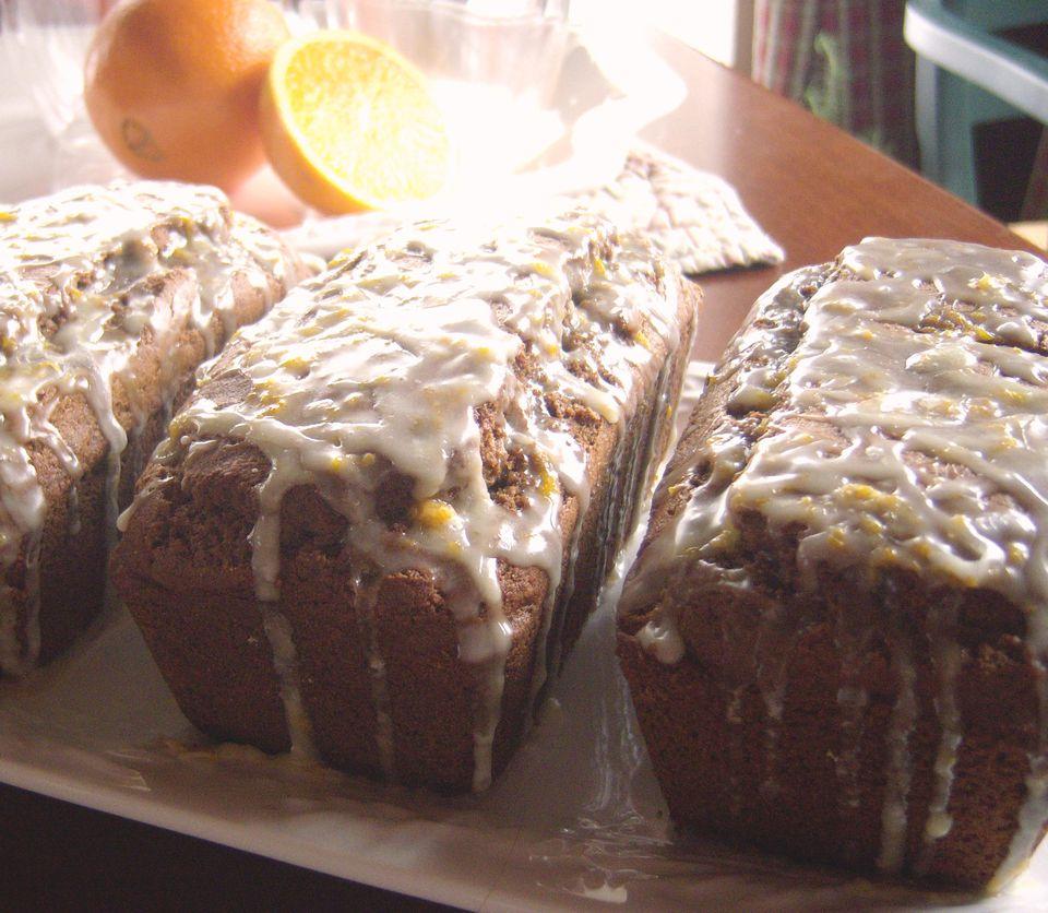 Gluten Free Gingerbread Loaf with Orange Glaze Recipe Image Teri Gruss