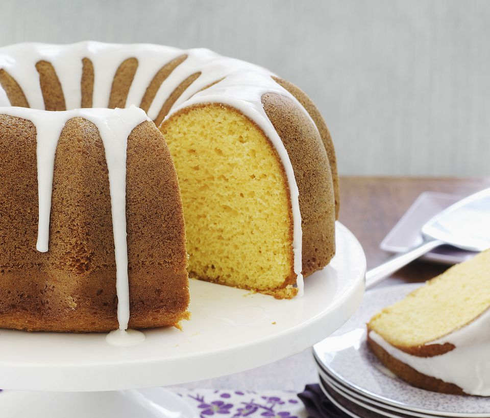 Almond Bundt Cake with Almond Glaze