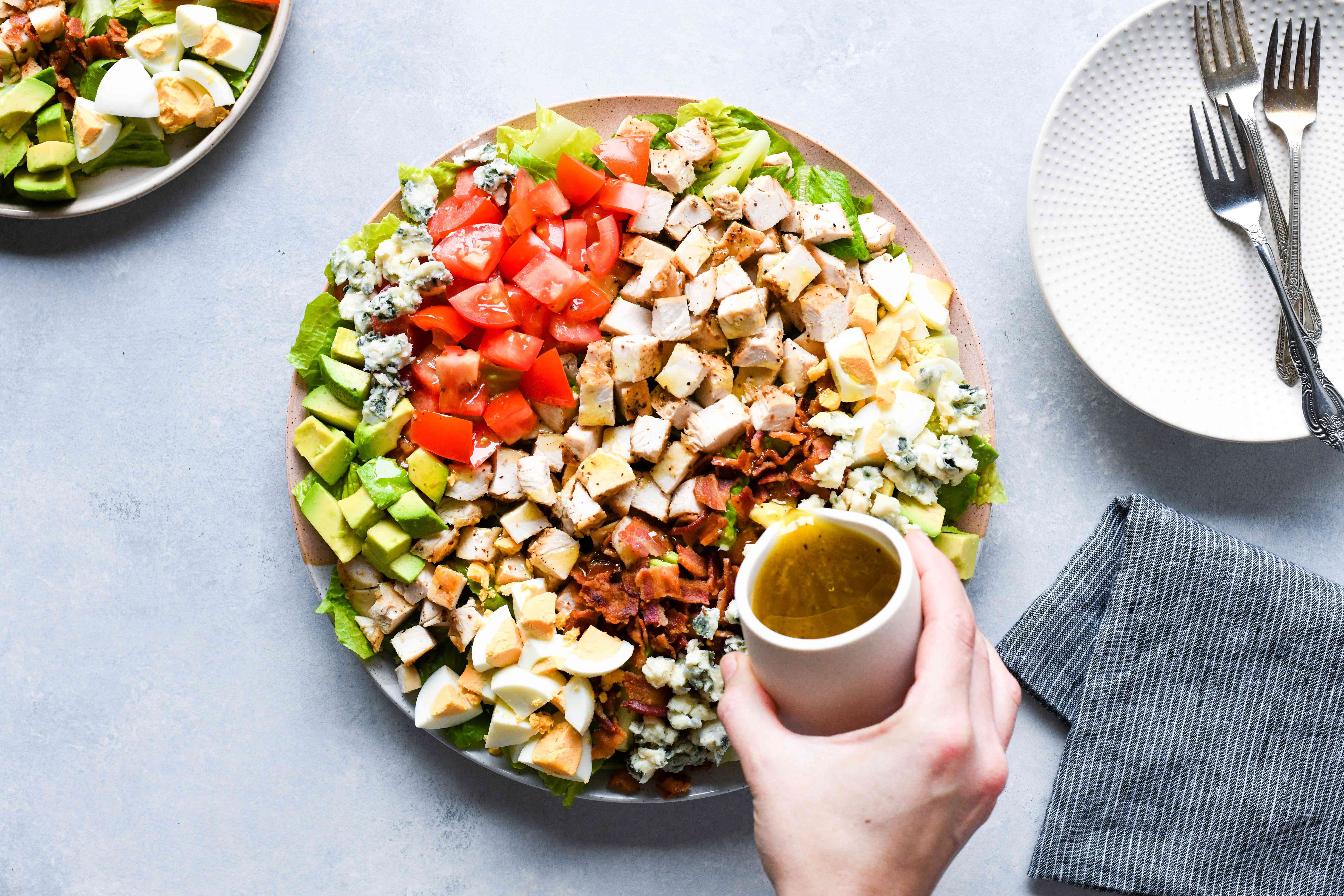 Classic Cobb Salad on a large plate