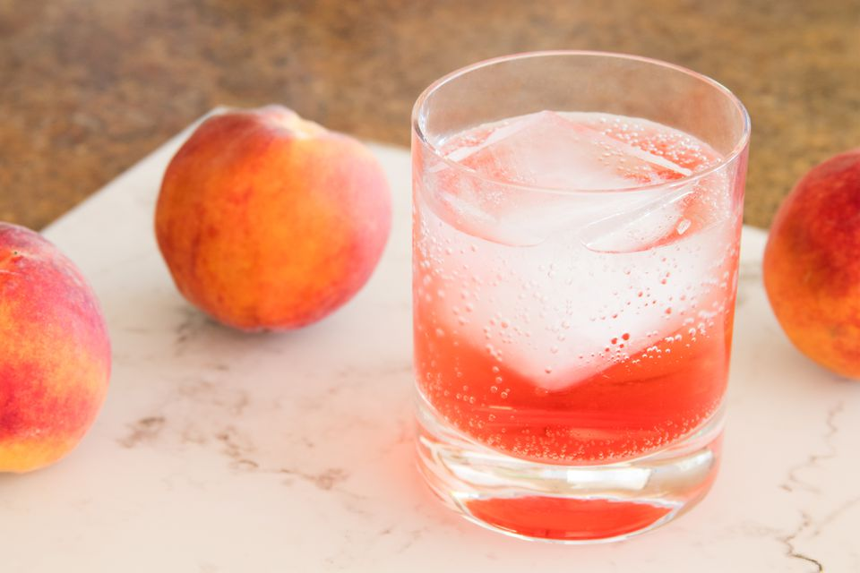 Sparkling Peach Sunrise Nonalcoholic Drink
