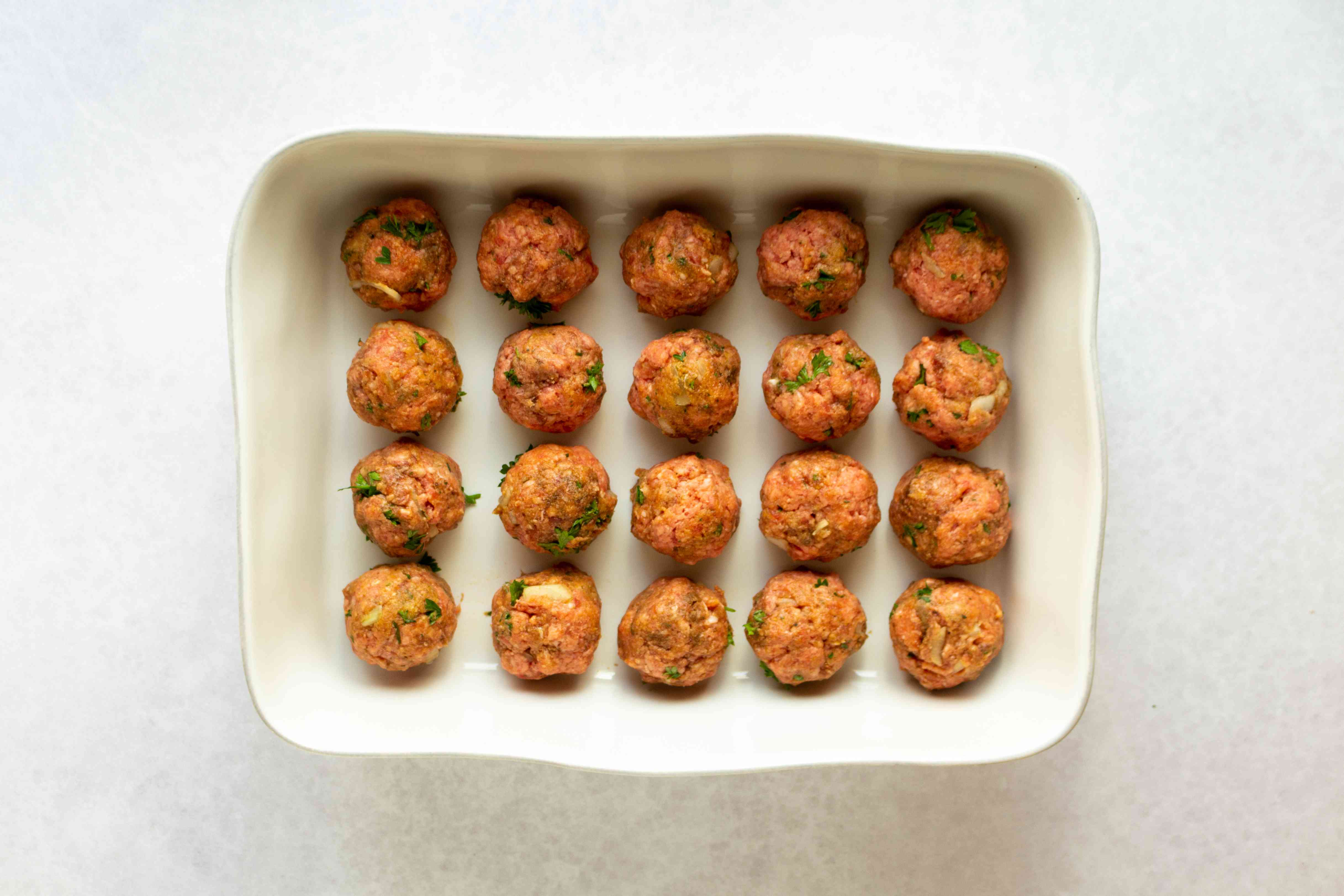 meatballs in a baking dish