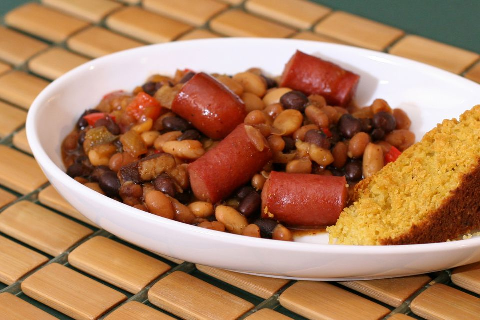 Easy Beans and Hot Dogs