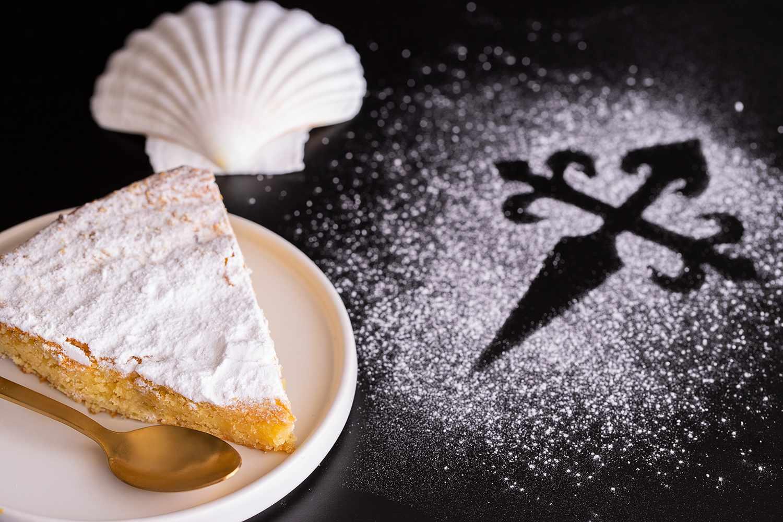 Tarta de Santiago (St. James cake) famous spanish almond cake