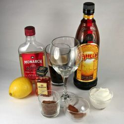 An Image of Spanish Coffee ingredients