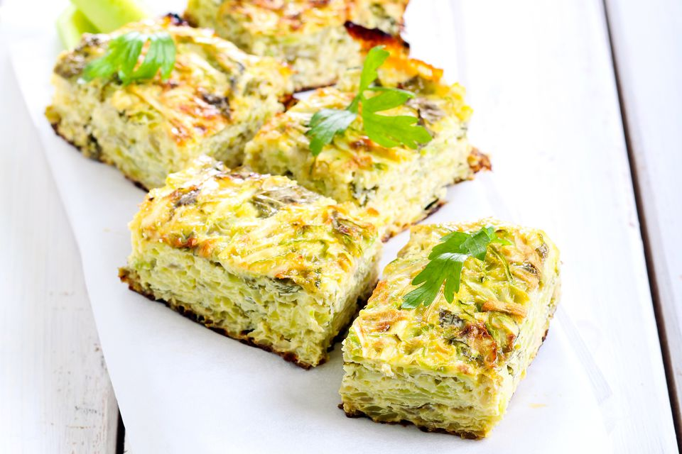 zucchini and Parmesan squares