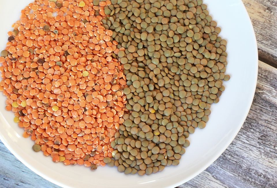 Lentils on a Plate