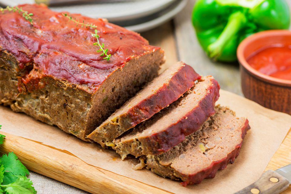 Meatloaf on a platter