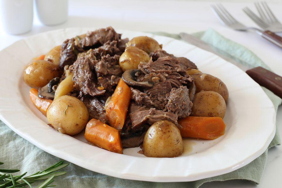 Receta de carne asada de olla instantánea