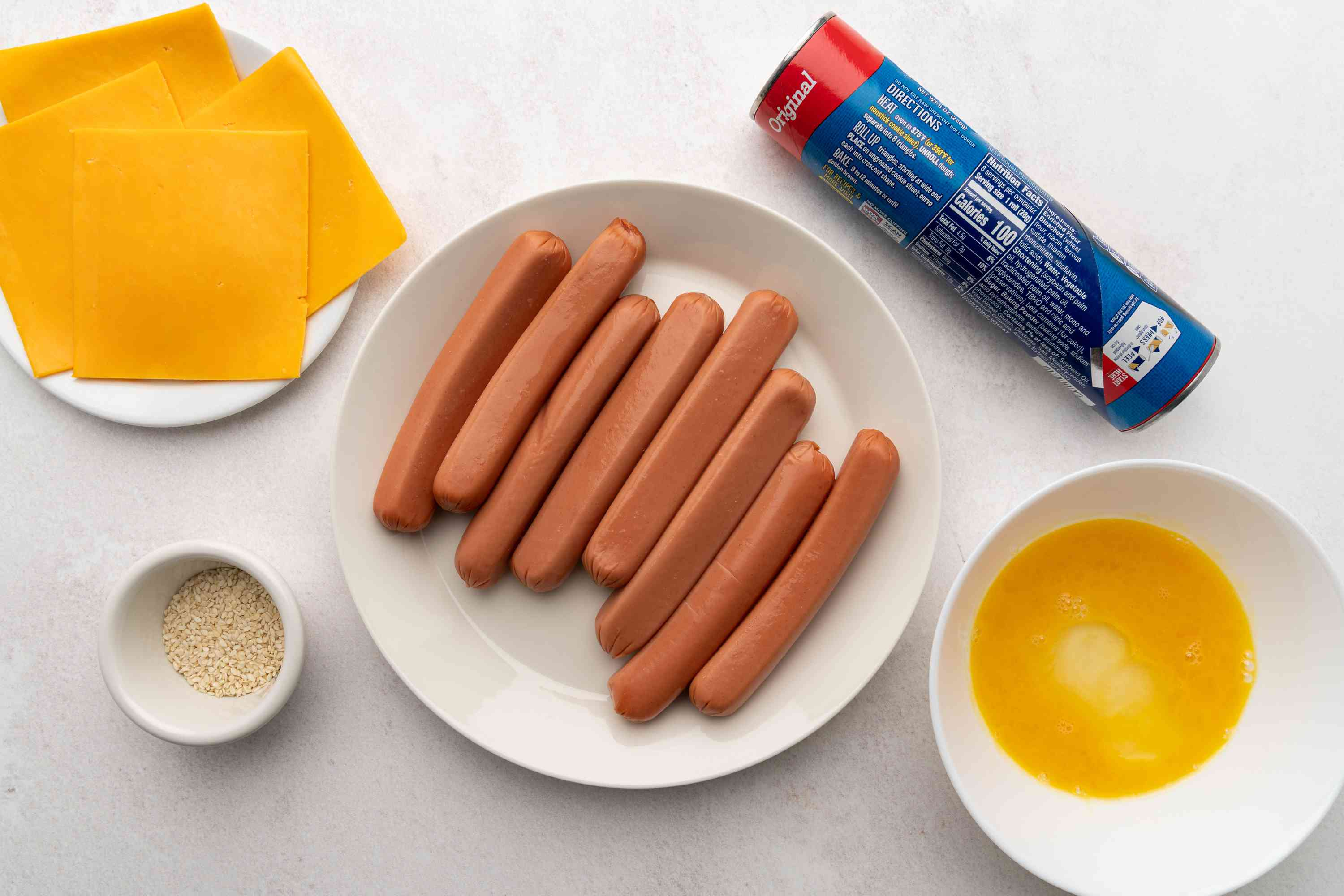 Crescent Roll Pigs in a Blanket ingredients