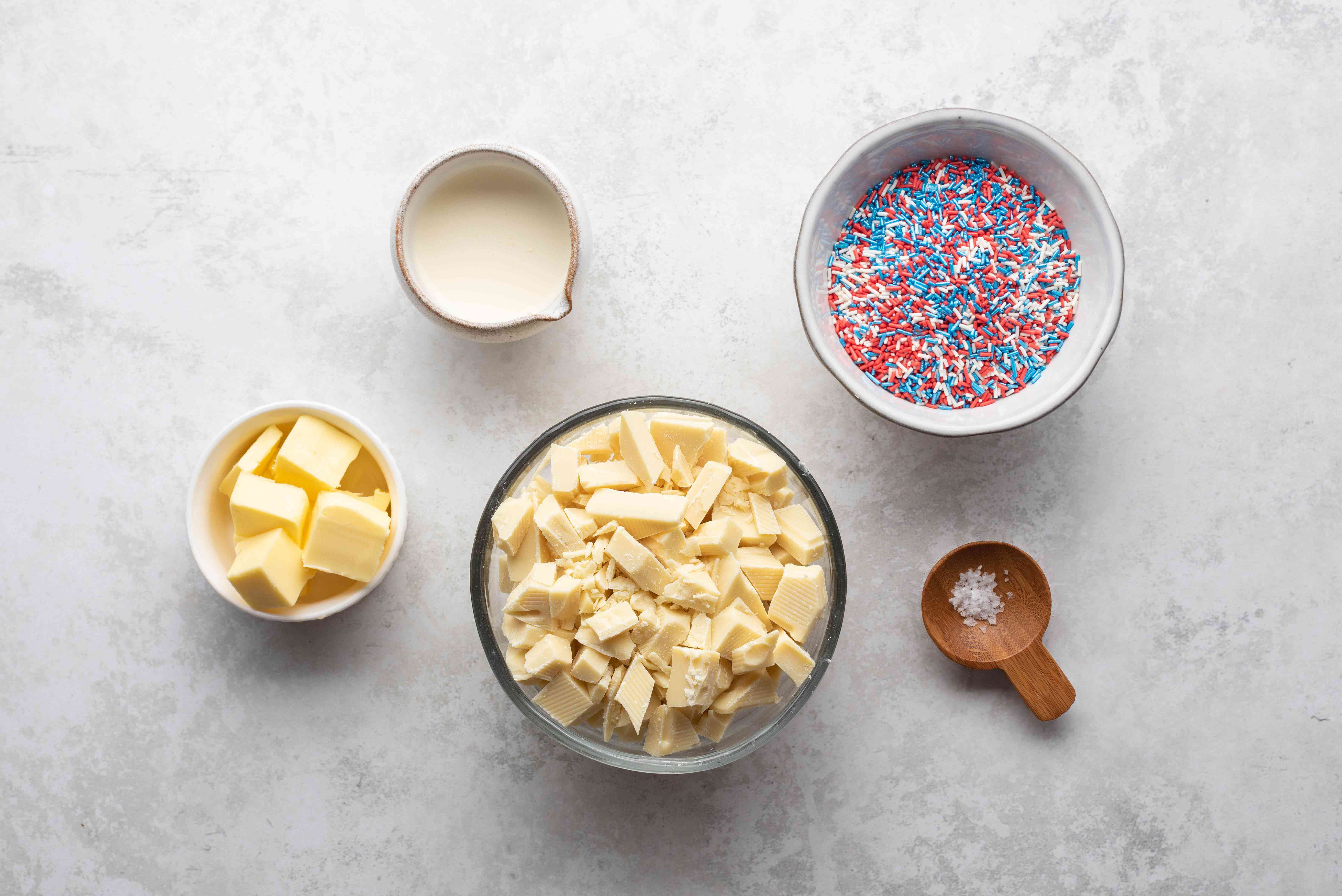 Red, White, and Blue Truffles ingredients
