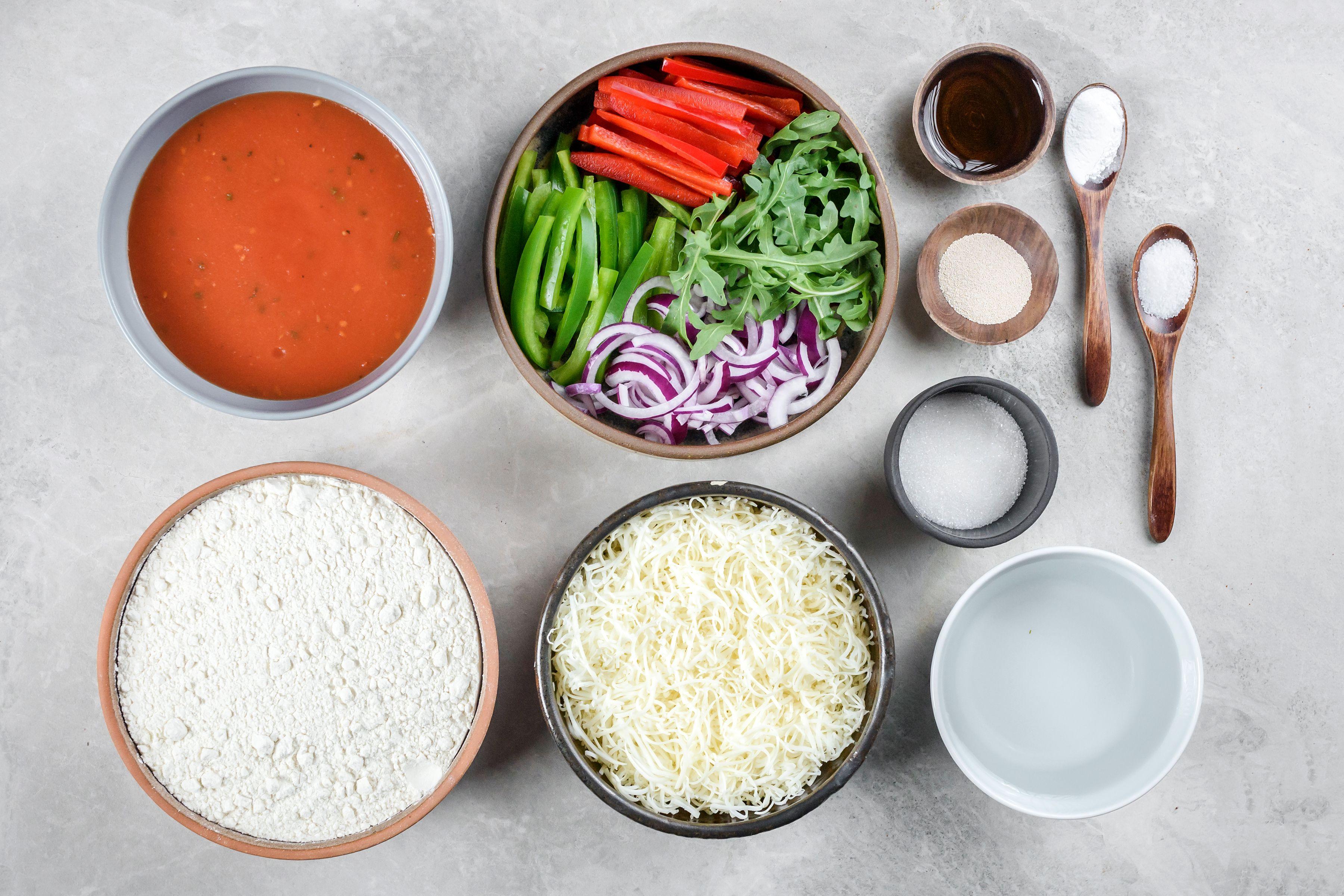 Dairy-Free Gluten-Free Pizza Recipe ingredients