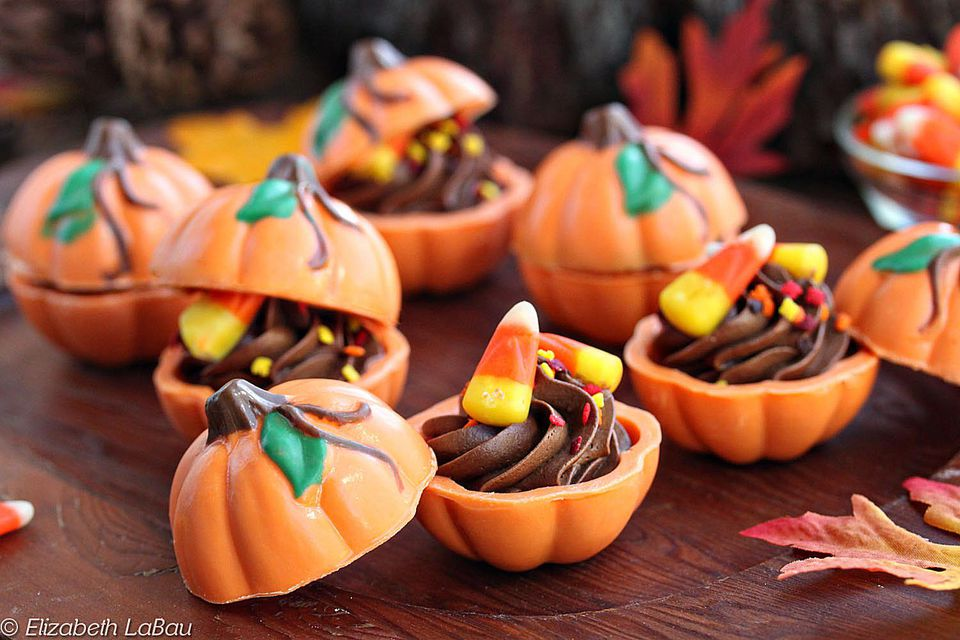 3-D Chocolate Truffle Pumpkins
