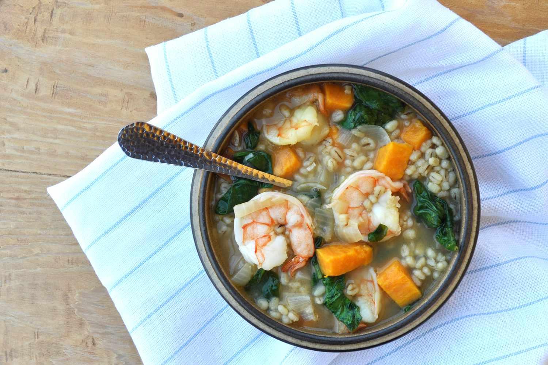 shrimp and barley stew