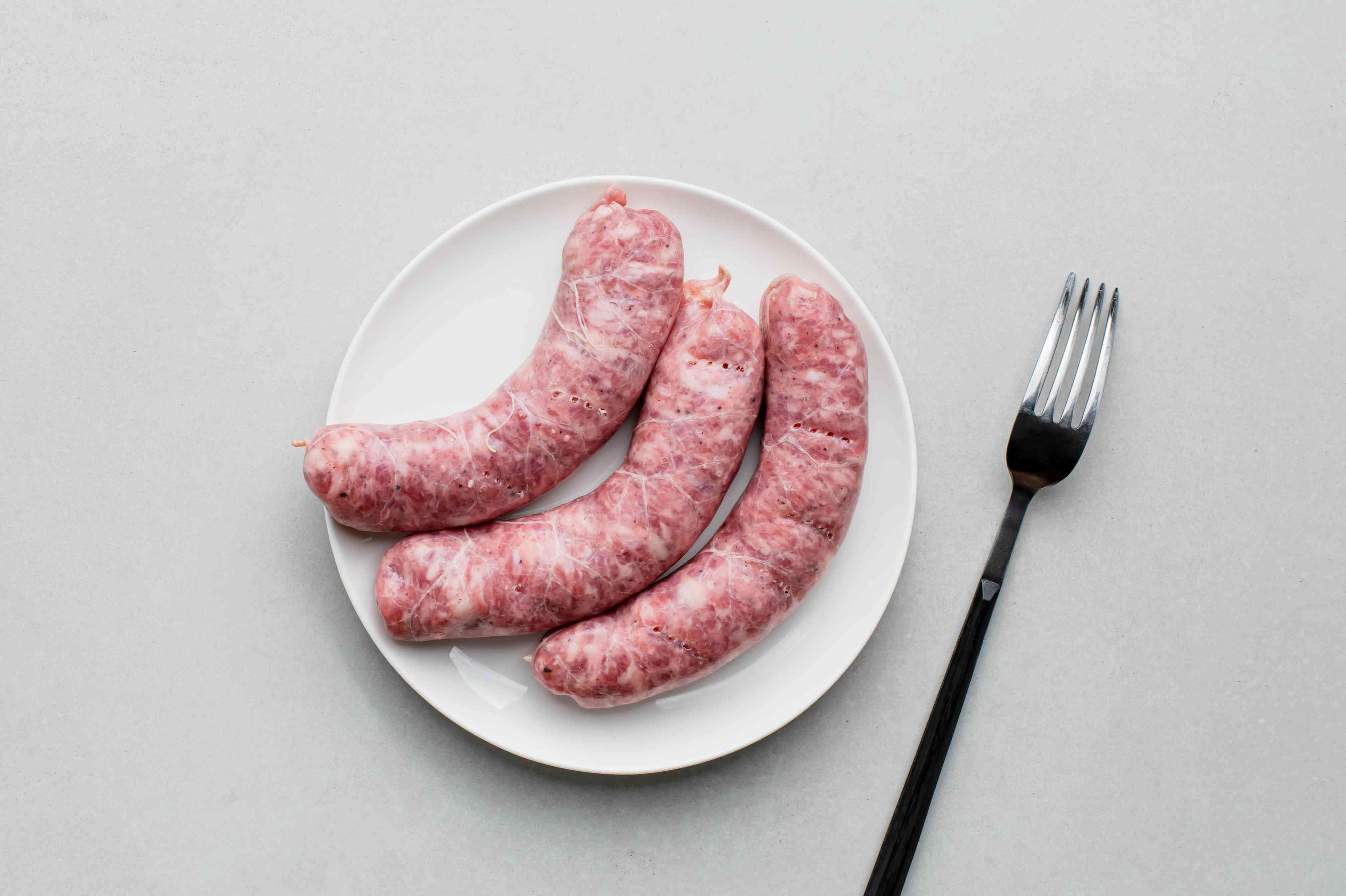 prick the sausage with a fork