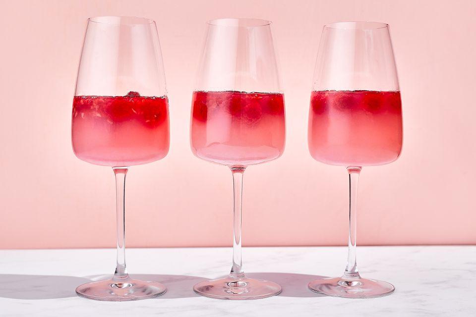 Vegan Raspberry Champagne Gelée