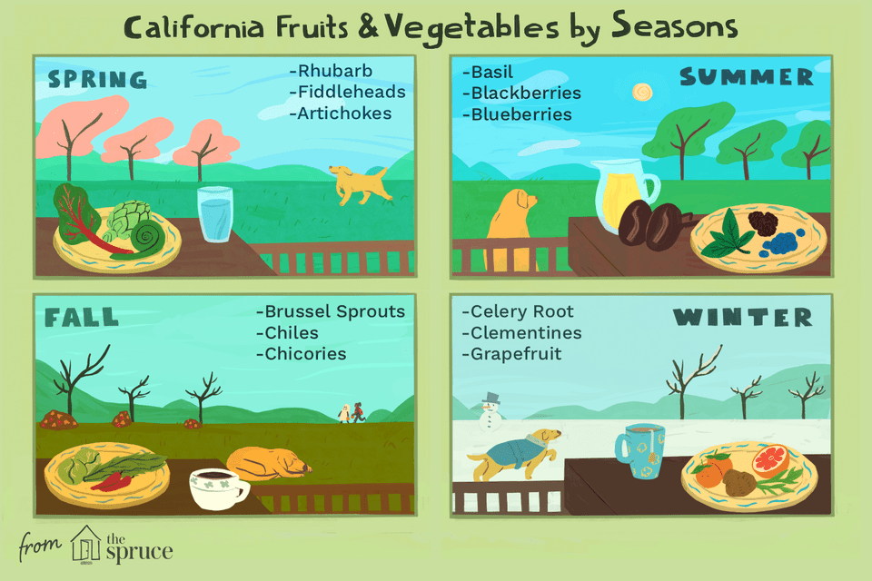 california fruits and vegetables by season