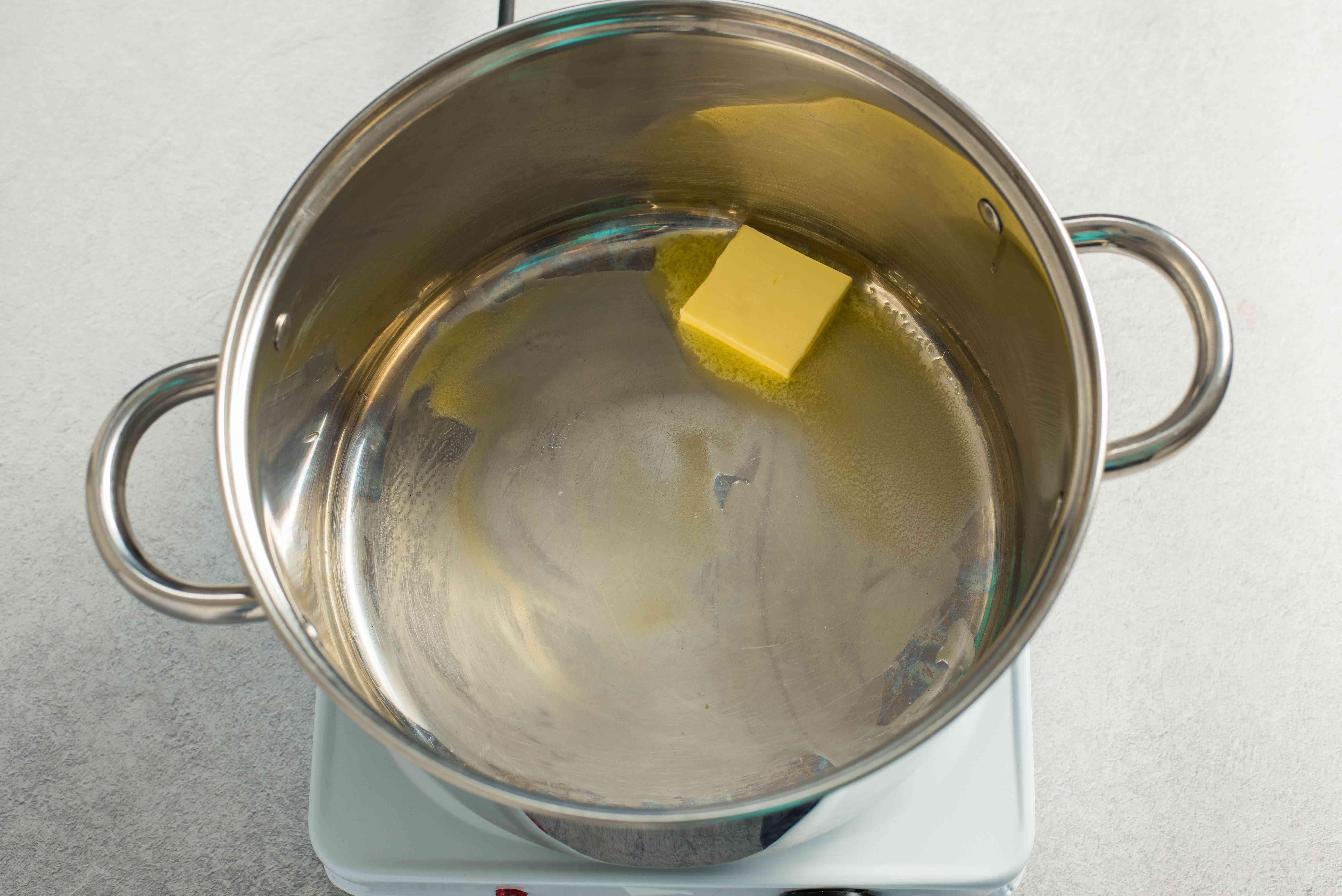 Butter melting in a pot