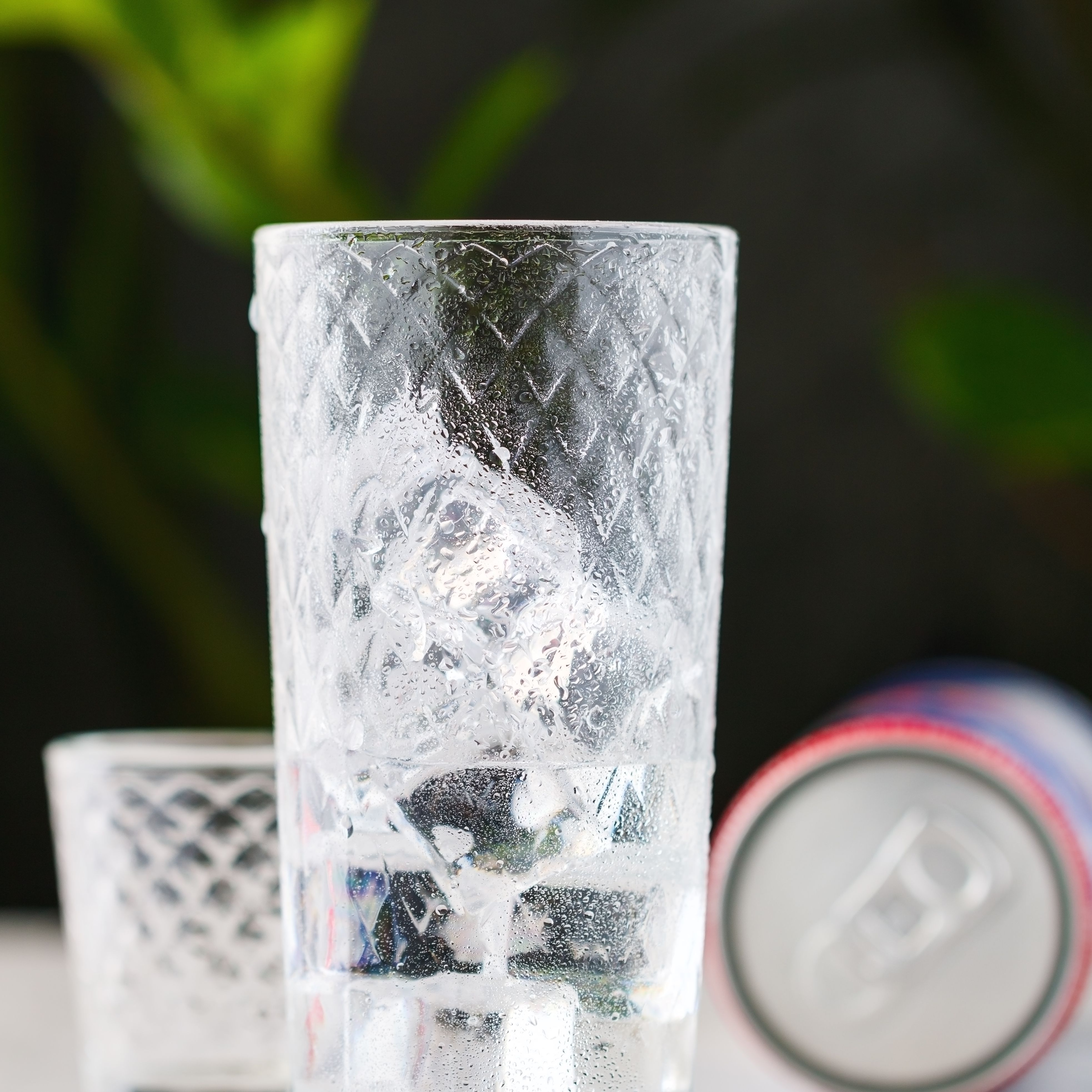Vodka in a highball glass with ice