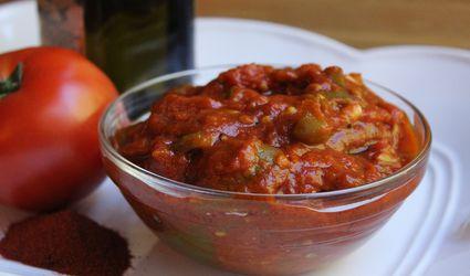 Moroccan Matbucha Tomato and Peppers