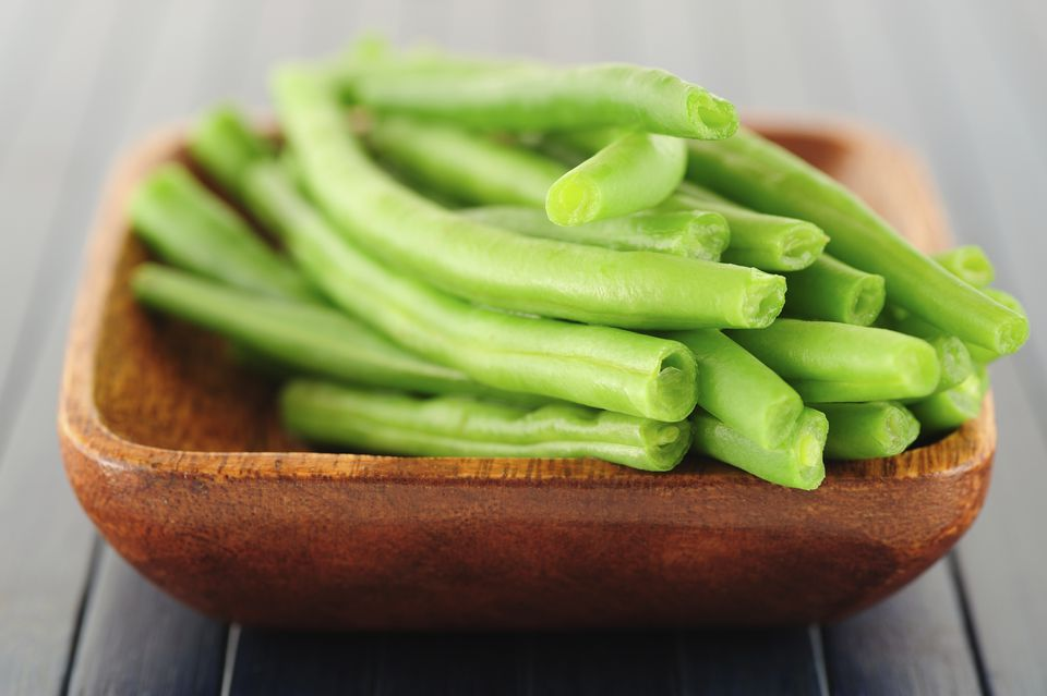 Close up of green beans in bowl