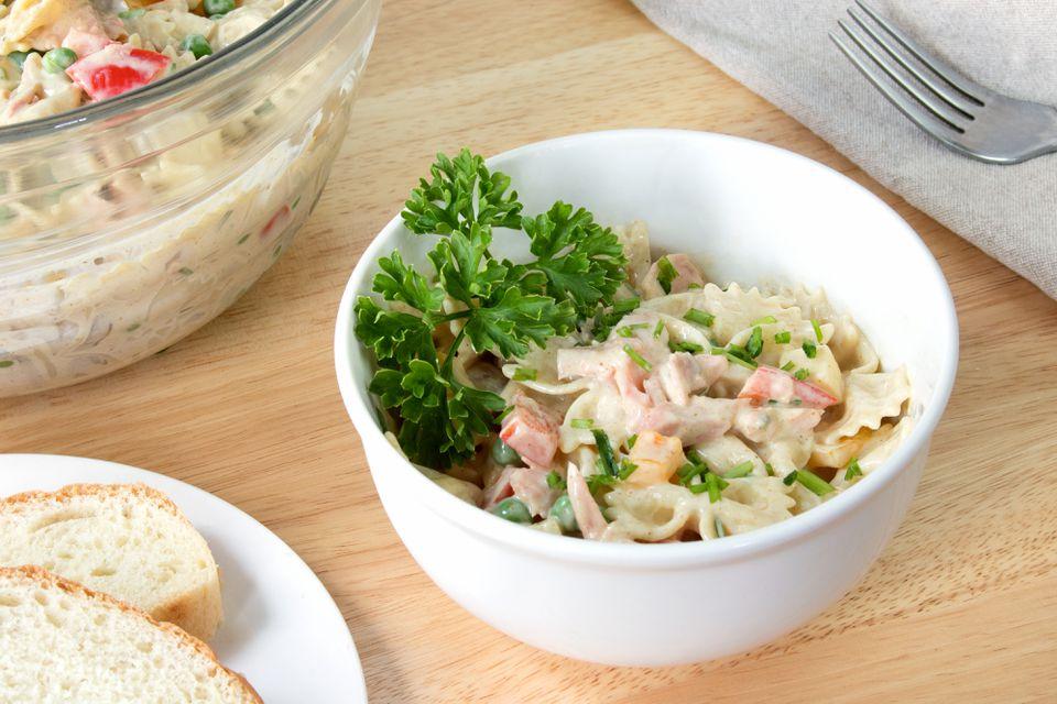 Honey Mustard Salmon Pasta Salad