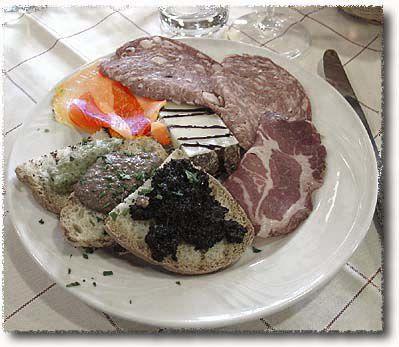 An Antipasto Misto Toscano: Prosciutto