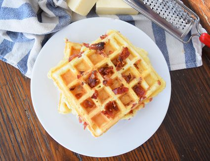 Bacon Egg and Cheese Waffle
