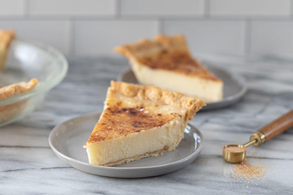 slices of Indiana sugar cream pie