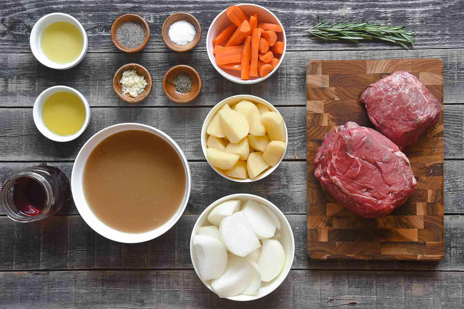 Southern Pot Roast ingredients