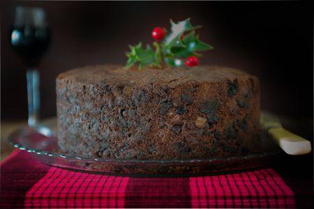 classic british christmas cake - Christmas Fruit Cake Decoration