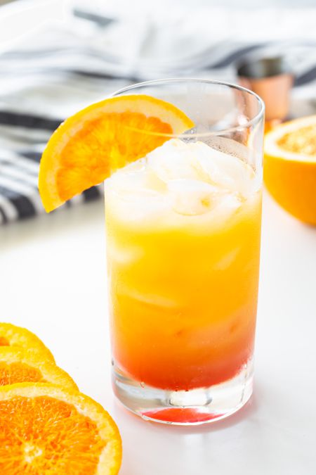 A Recipe Tequila Sunrise Sweet Mocktail Virgin