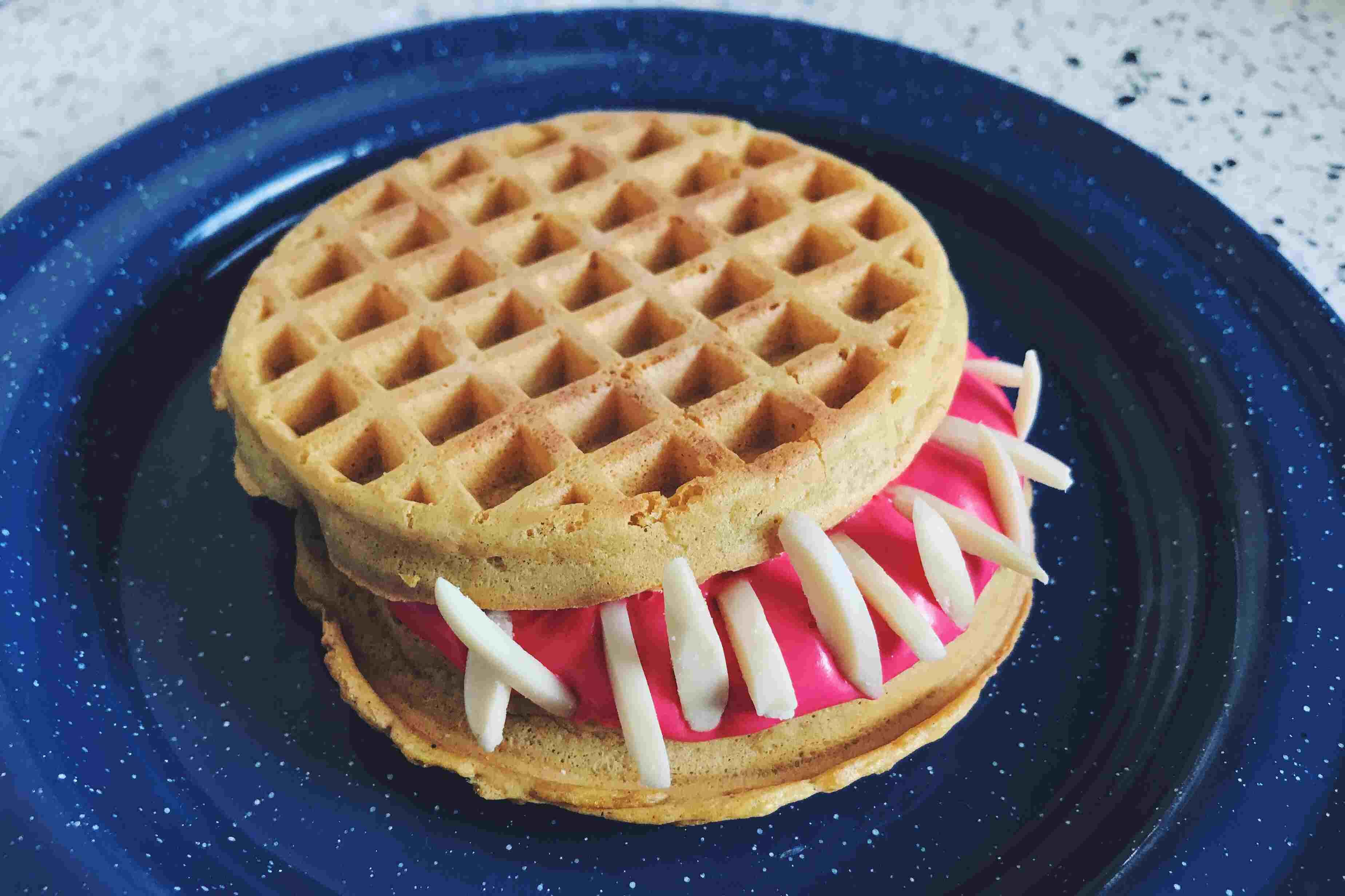 Marshmallow Pumpkin Waffle Sandwich