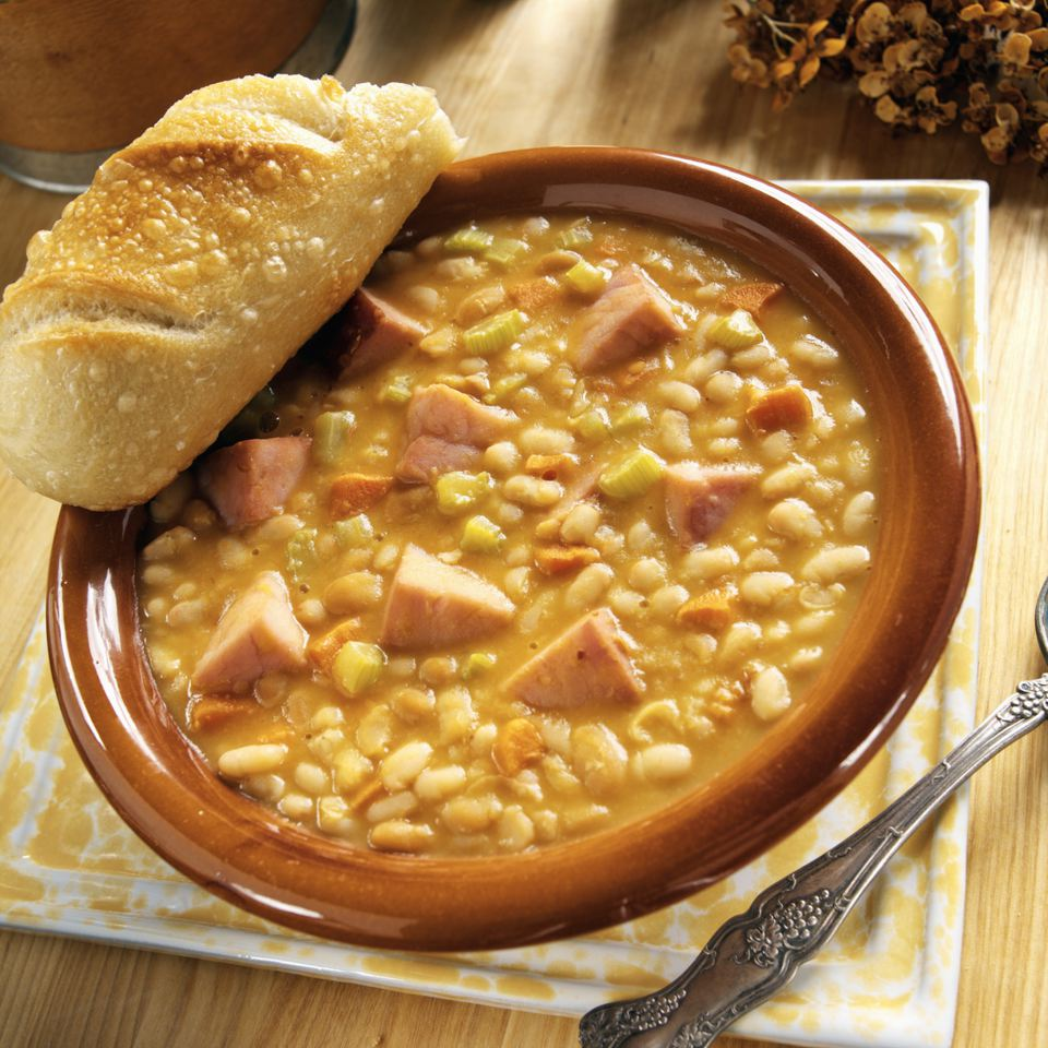 Hearty Bean Soup with Country Ham