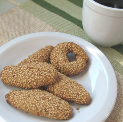 Greek Sesame Cookies - Greek food photos