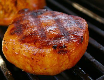 Hawaiian Pork Chops on the grill