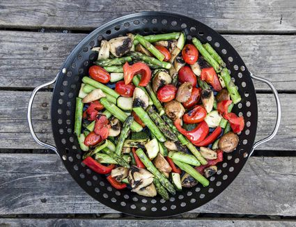 Hot Asparagus and Tomato Salad